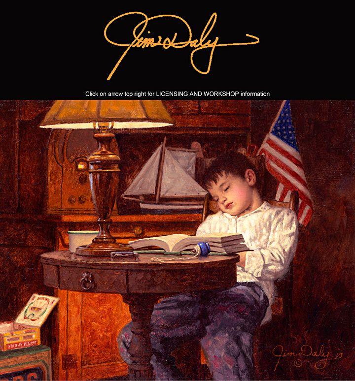 Jim daly americana artist genre nostalgia paintings