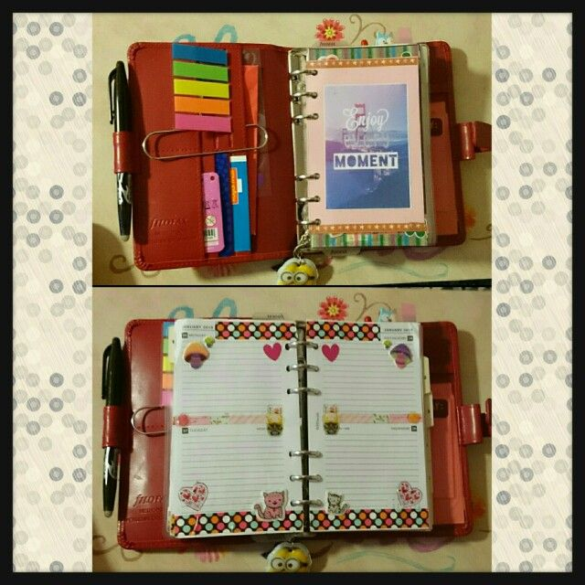 The best part of having a Filofax is being able to personalise it in my opinion :P  #Filofax #metropol #metropolfilofax #redfilofax #love #stationery #planneraddict #organiser
