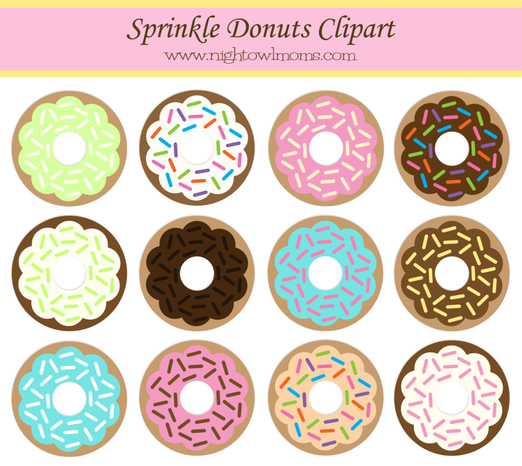 free sprinkle donut clipart pinterest sprinkle donut night owl rh pinterest com donut clipart images donuts clipart black and white