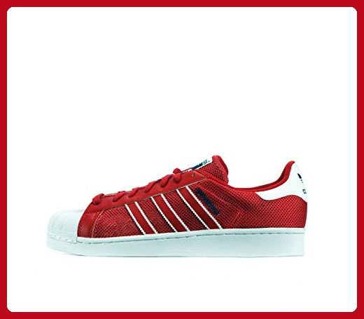 Mens ADIDAS SUPERSTAR Red Trainers BB5394
