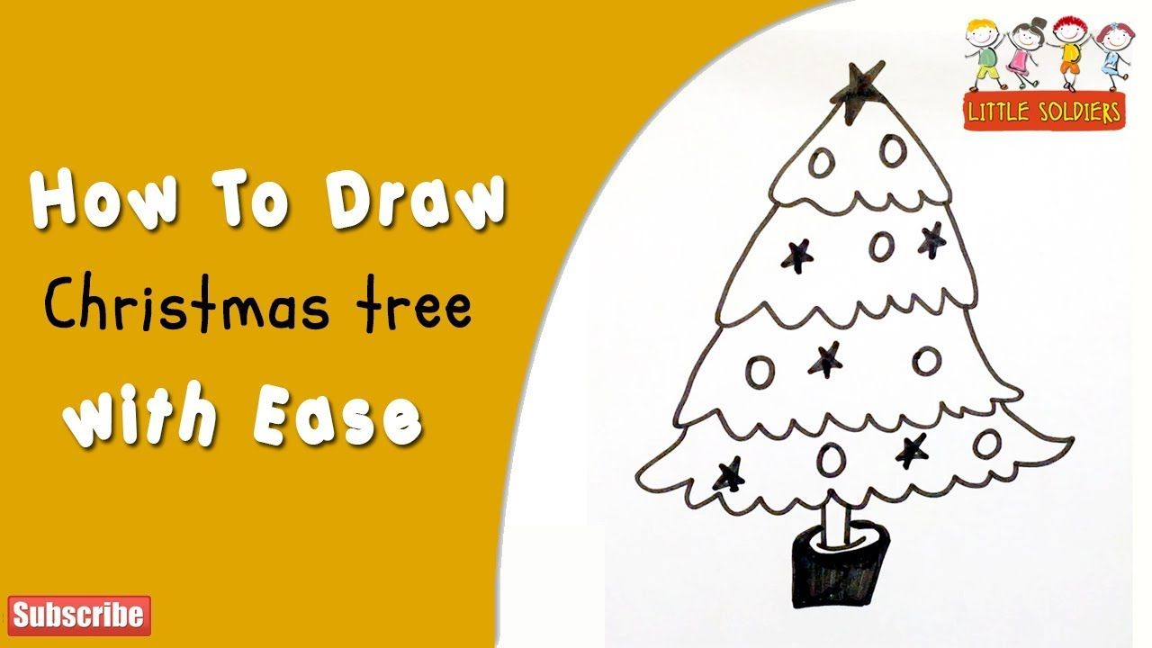 Very Easy How To Draw A Christmas Tree Easy And Cute Paper Drawing For K Simple Christmas Tree Christmas Tree Drawing Paper Drawing