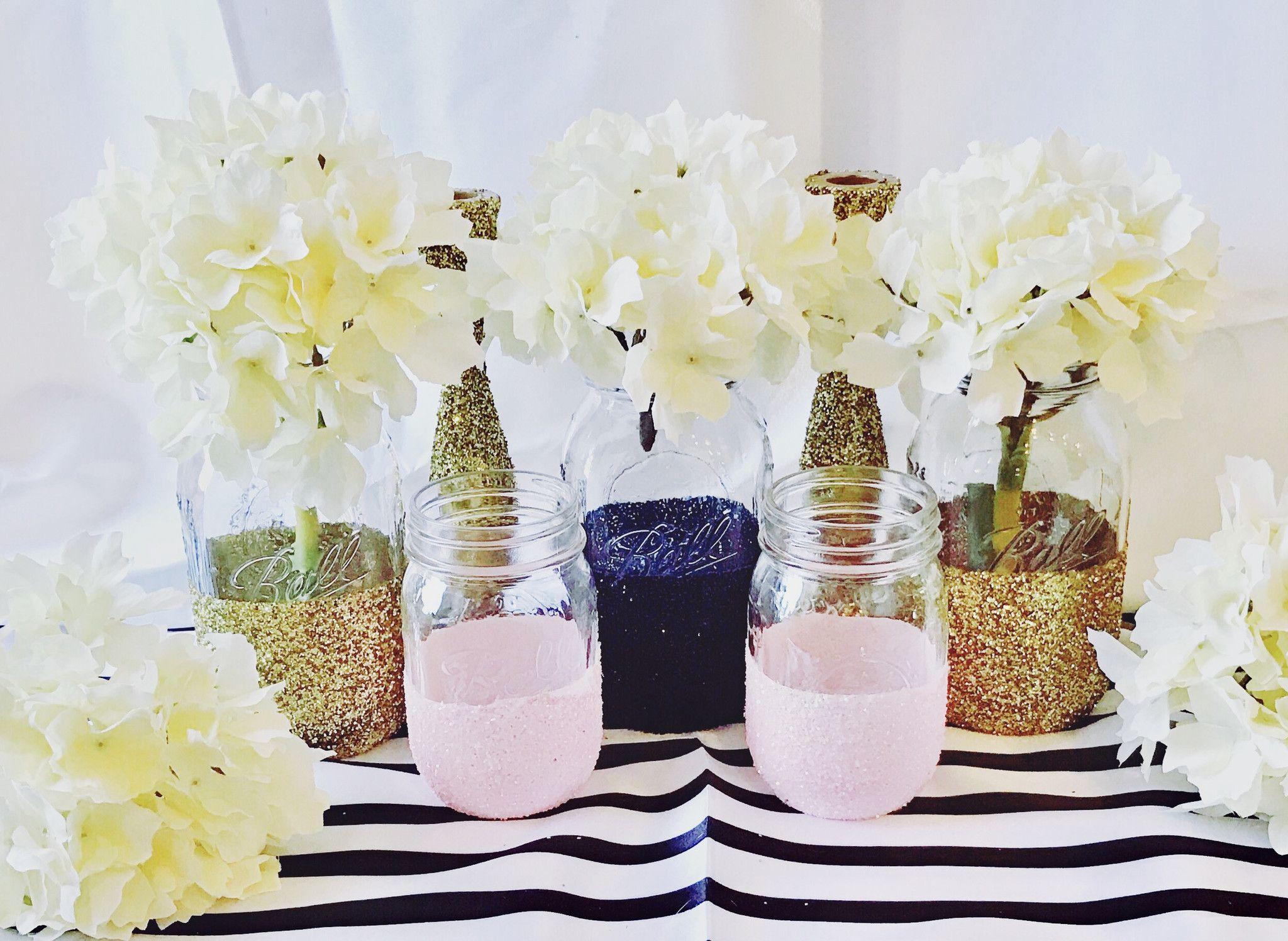 Glitter Dipped Mason Jars   Sparkle mason jars and Jar
