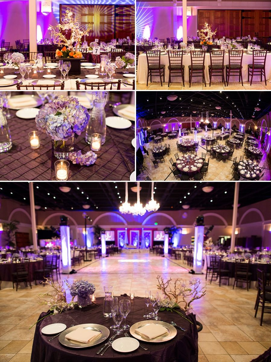 Wedding decorations for reception january 2019 purple themed decor at indian reception Courtesy William Chang