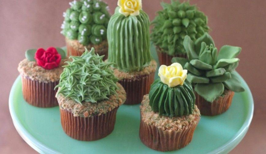 Leuke uitdaging: Cactuscupcakes om zelf te maken