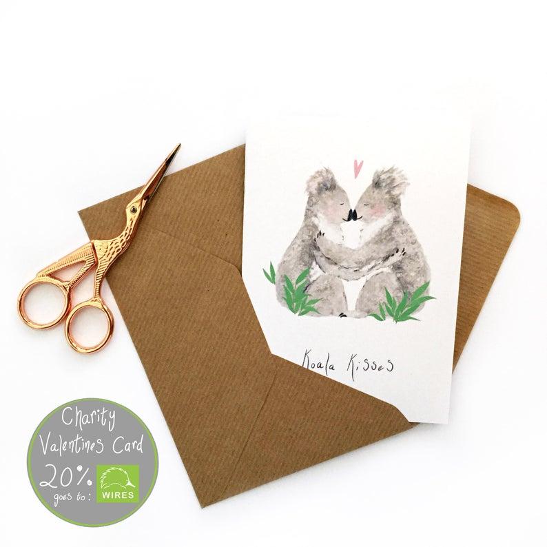 Valentines Card Koala Love Card Animal Valentines Koala Etsy Valentines Cards Love Cards Animal Valentine