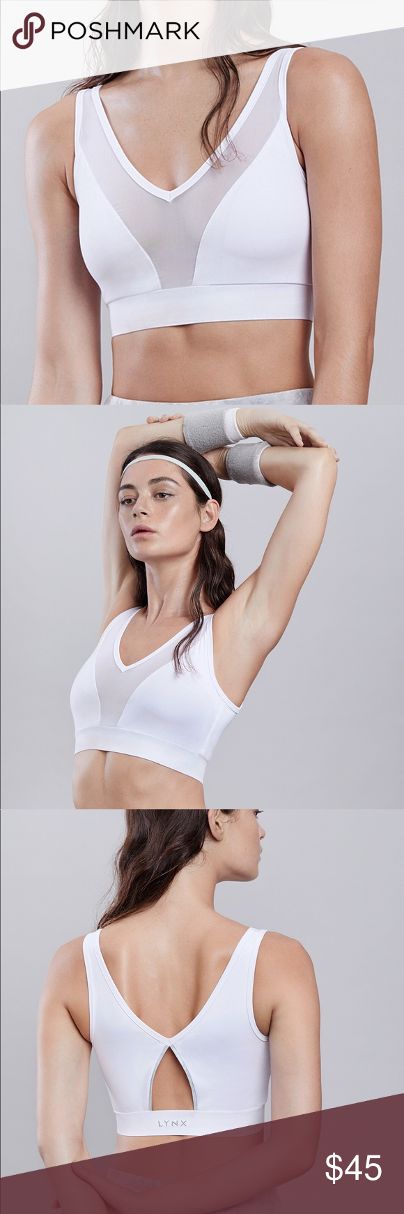 1642700318524 Lynx Active Lushky White Sports Bra Meshing It Up with Lushky sports bra.Featuring  in