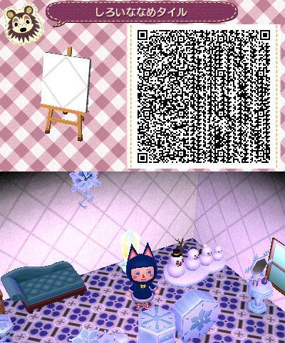 White Diagonal Animal Crossing Qr Animal Crossing Qr Codes