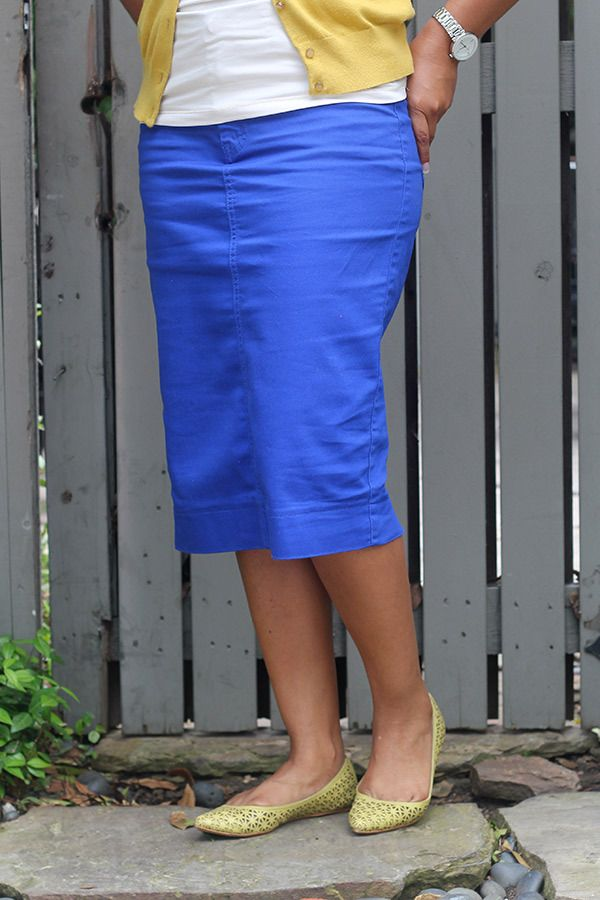Royal Blue Colored Denim Skirt - Jade Mackenzie Modest Apparel ...