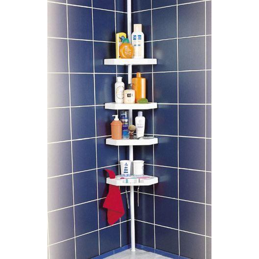 etag re de bain douche d 39 angle ottawa t l scopique sol et plafond blanc appart. Black Bedroom Furniture Sets. Home Design Ideas