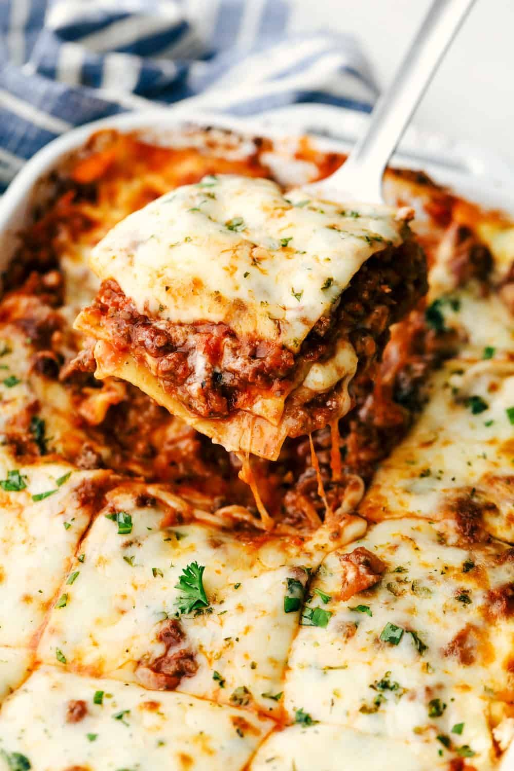 The Best Classic Lasagna Ever Has Layers Of Sauteed Ground Beef And Italian Sausage That In 2020 Best Lasagna Recipe Classic Lasagna Recipe Lasagna Recipe With Ricotta