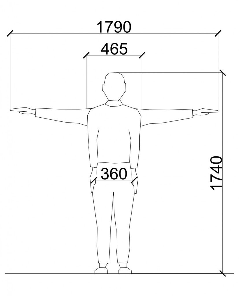 Average Male And Female Dimensions  Heights  Design -4231