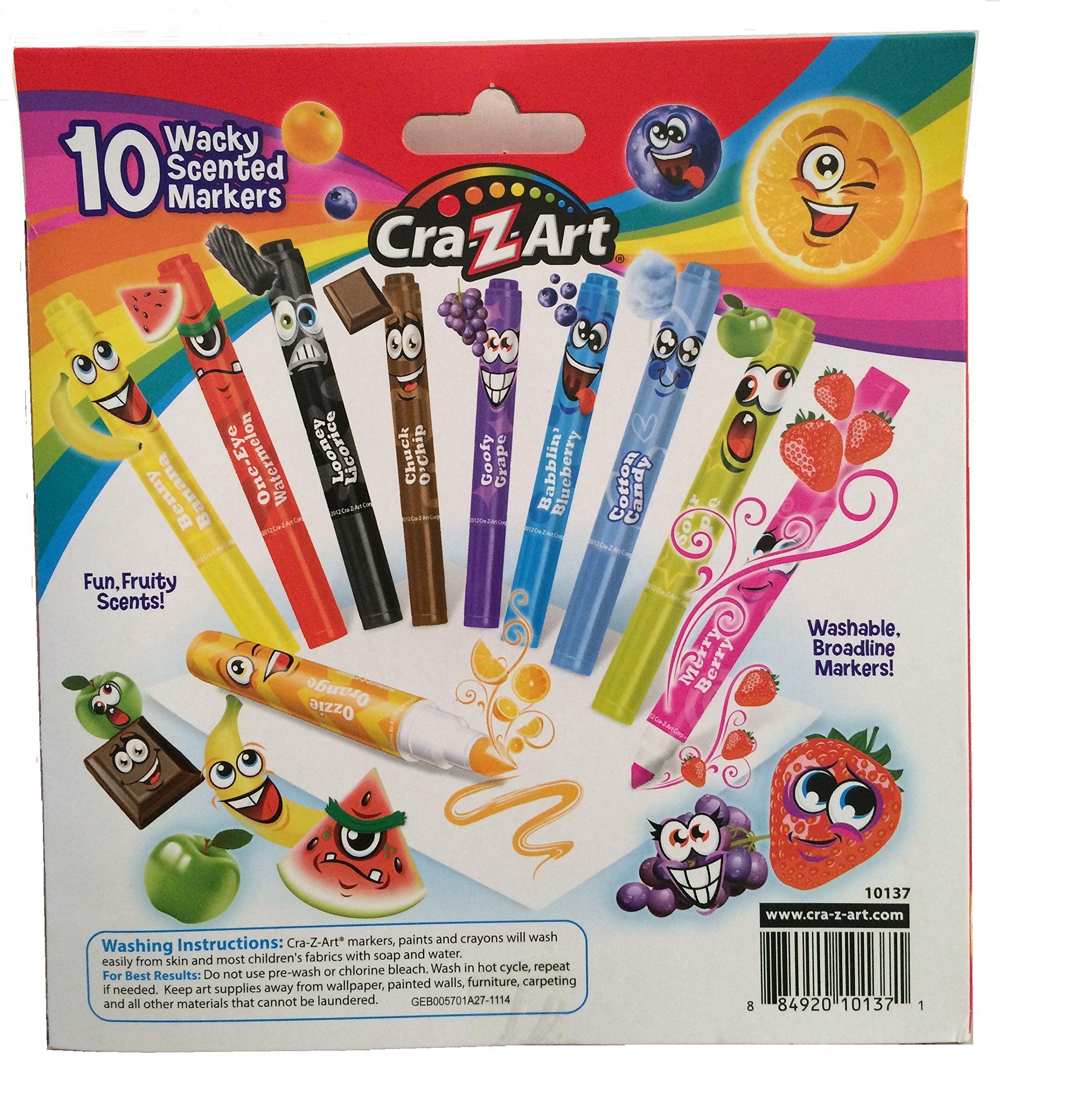 Amazon Com Cra Z Art Wacky Scented Markers Fruity Scents Looks