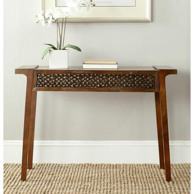Asian Inspired Birchwood Console Table Decor Sofa End Tables
