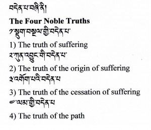 3 Dimensions (Doctrinal) The 4 truths of Buddhism is a doctrine ...