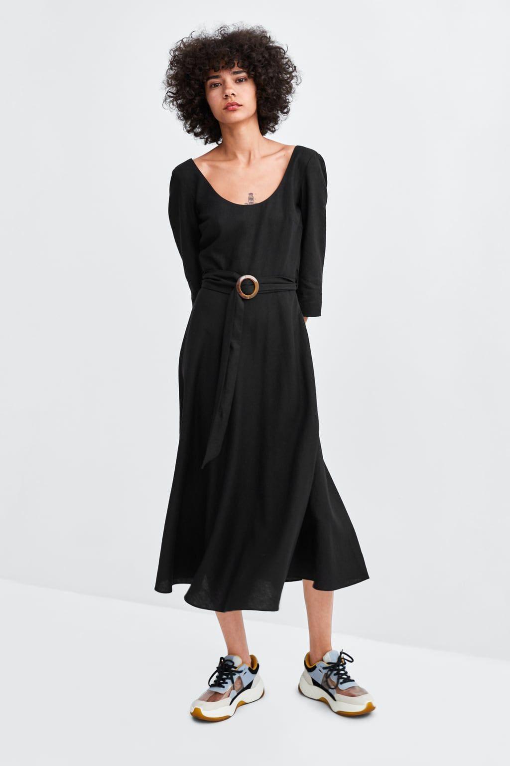Vestido Hebilla Zara Mujer Vestidos Pano Estilos Para Tallas Grandes