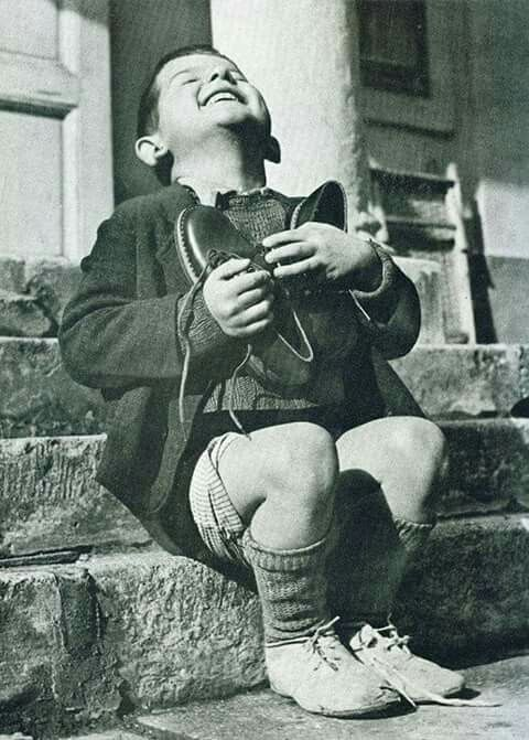 Estrenando zapatos...