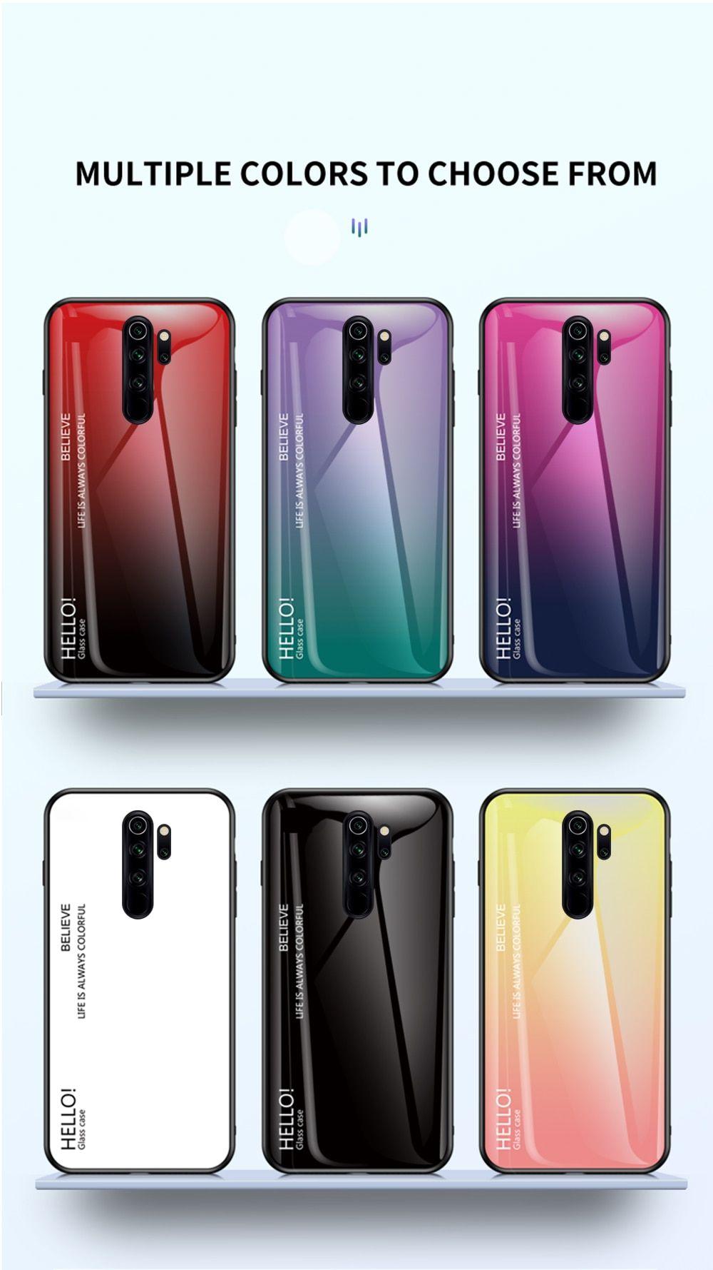 For Xiaomi Redmi Note 8 Pro Gradient Soft Silicone Frame