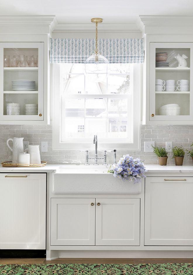 kitchen window roman shade sara by lulie wallace interiors kitchen in 2019 interior on kitchen interior with window id=75834