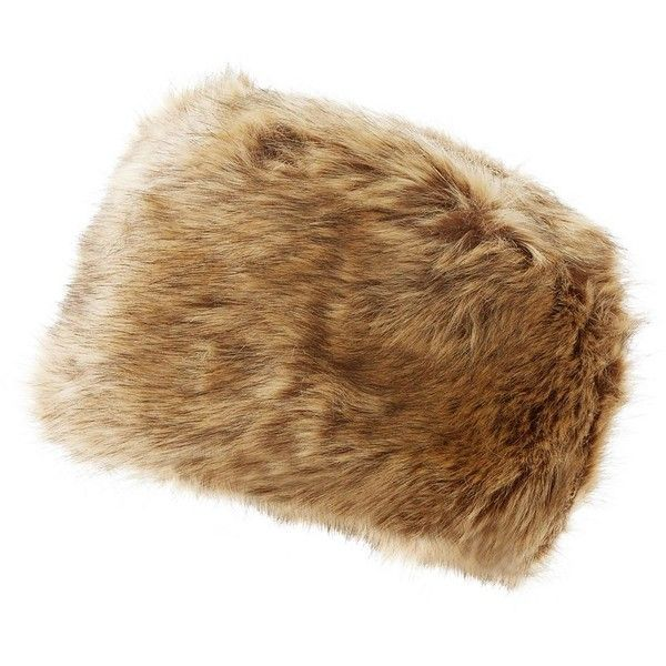 Brown Faux Fur Cossack Hat ($20) ❤ liked on Polyvore featuring accessories, hats, brown hat, fake fur hats e faux fur hat