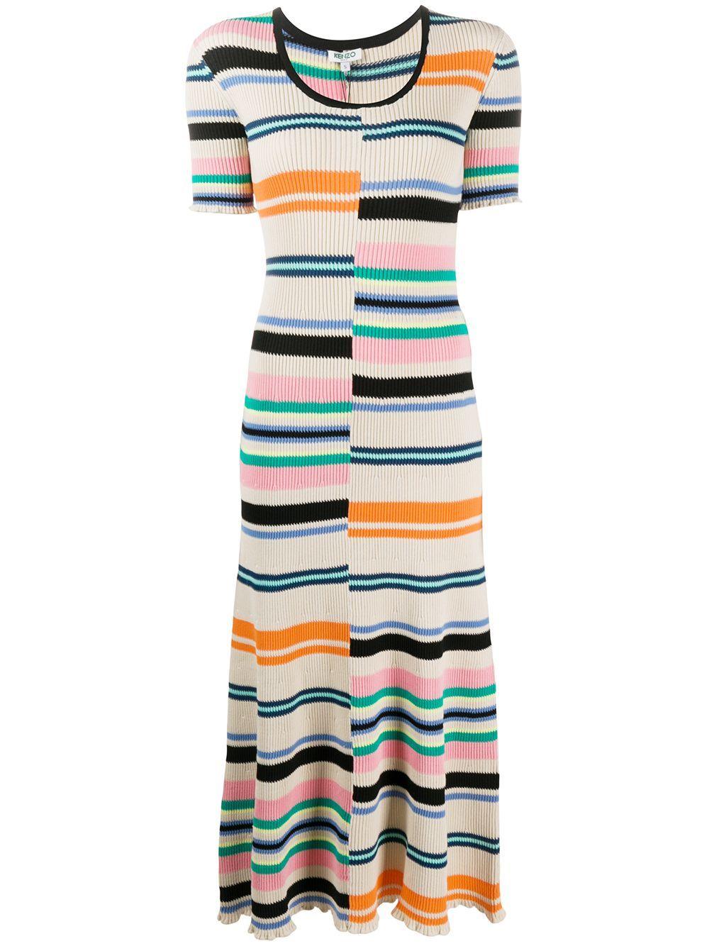 Kenzo Striped Knitted Dress Farfetch Knit Dress Striped Knit Dress Trending Dresses [ 1334 x 1000 Pixel ]