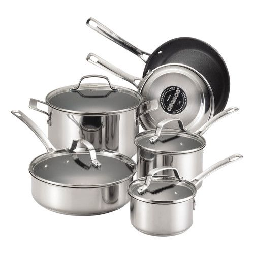 Found it at Wayfair - Genesis 10 Piece Stainless Steel Cookware Set
