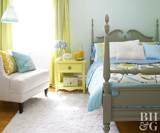 If You Can T Paint The Walls In Your Apartment Furniture A New Job On Bed Frame Or Nightstand Be Just As Impactful Color