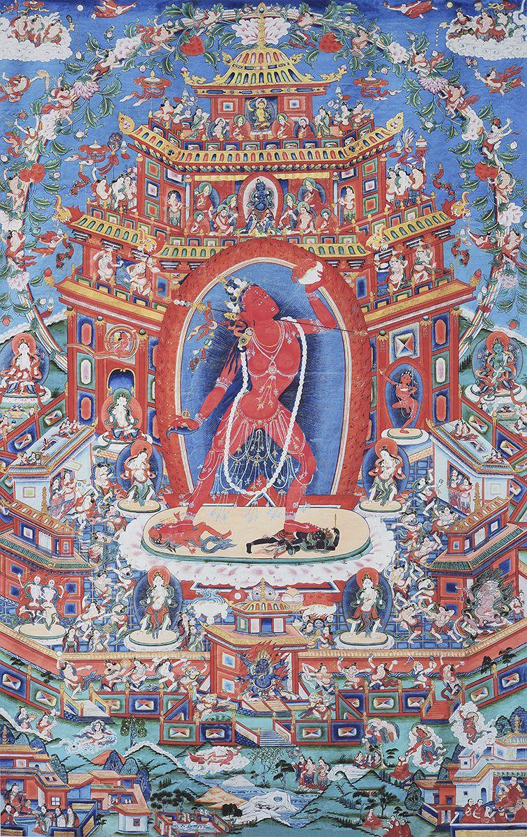 Buddha Vajrayogini's mandala in Kechara pureland