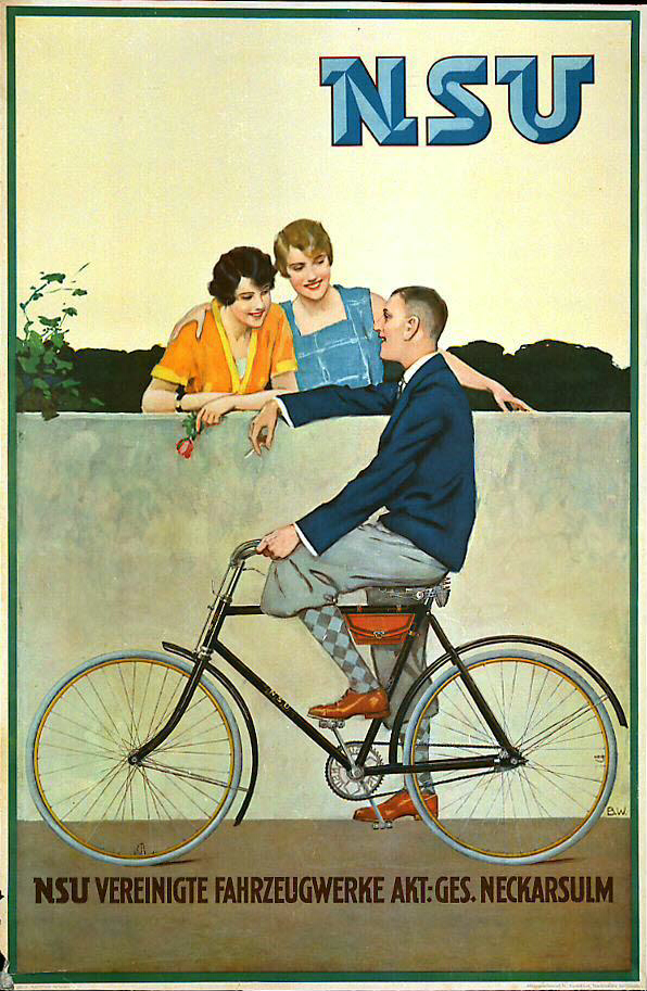 nsu fahrrad bicycle 1930 germany vintage pinterest. Black Bedroom Furniture Sets. Home Design Ideas