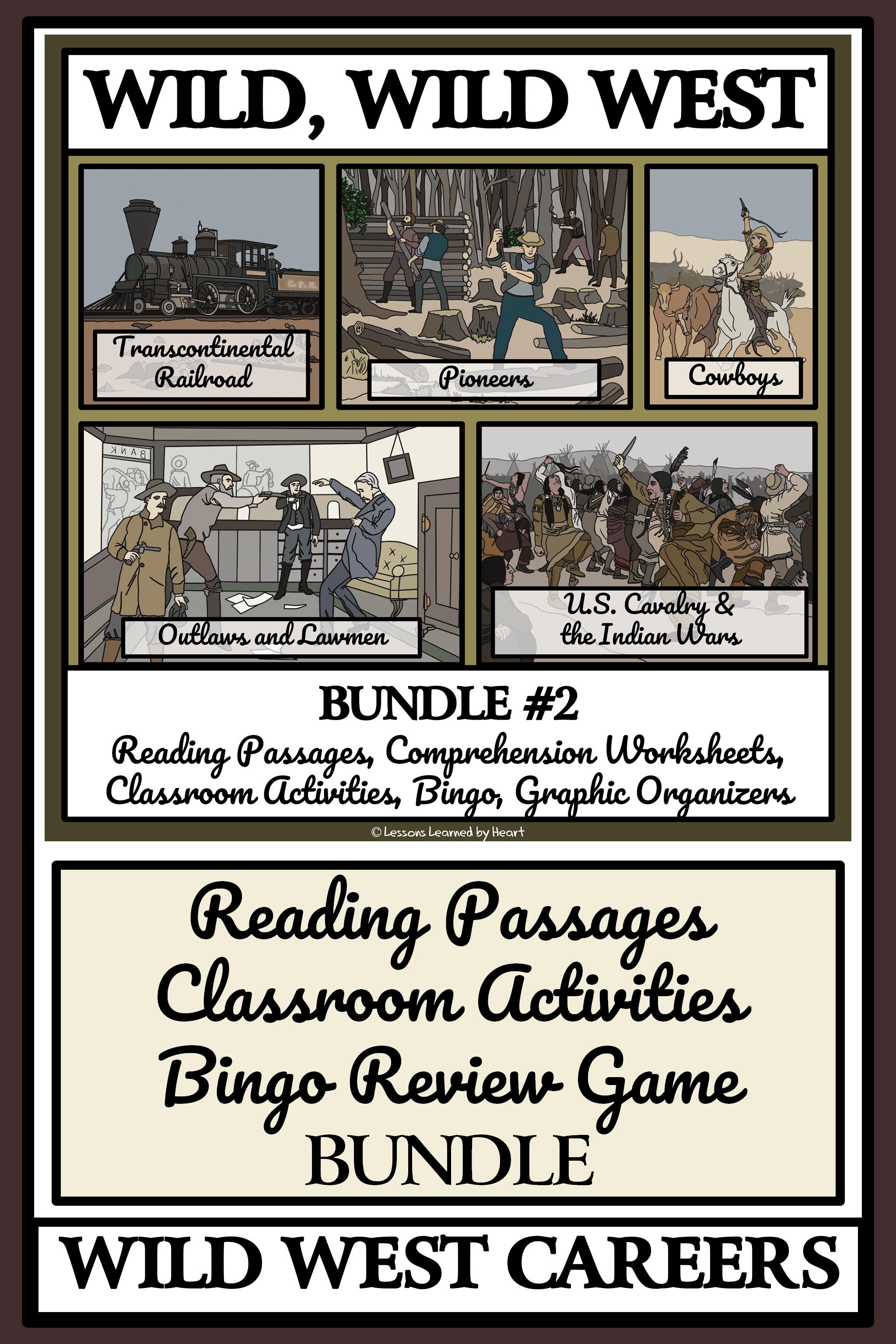 Wild West Life Bundle 2 Reading Passages And Classroom Activities Reading Passages Classroom Activities Activities [ 3072 x 2048 Pixel ]