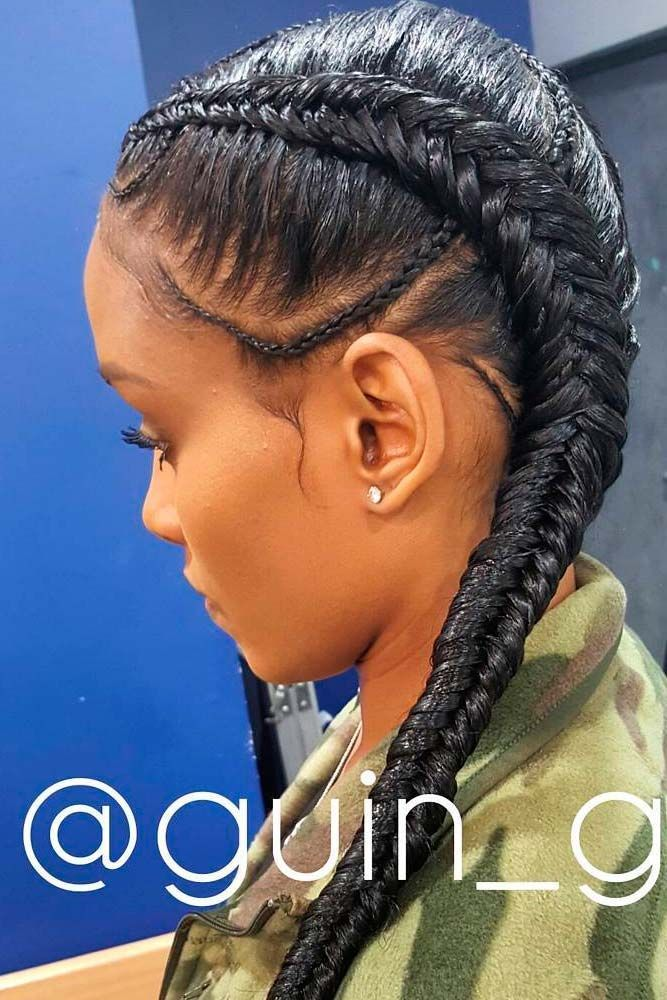 Image Result For Double Braid Hairstyles With Weave On Little Girls Weave Hairstyles Braided Two Braid Hairstyles Natural Hair Styles