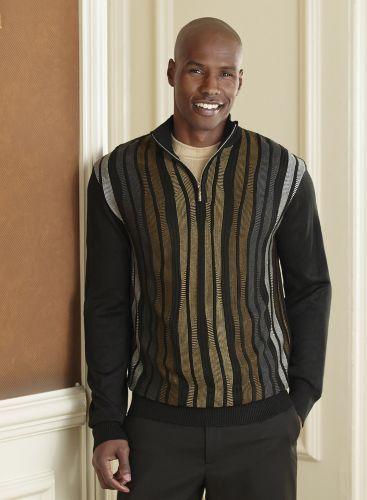 1/4-Zip Sweater by Steve Harvey from Midnight Velvet®