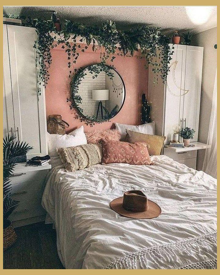 Photo of 44 Eleganti idee per l'arredamento della camera da letto Boho per piccoli appartamenti   Decorazioni per camerette   Piccola camera da letto …