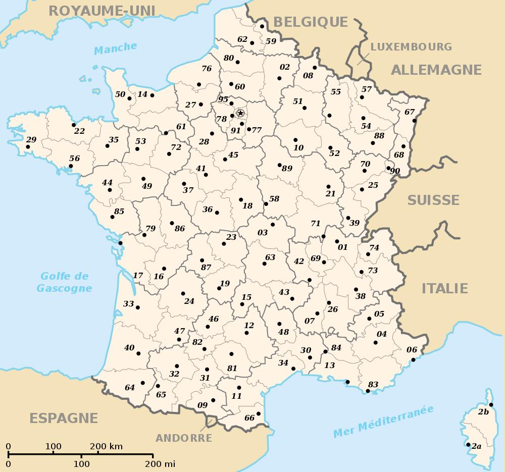 Fond de carte de France avec régions et départements | Carte france vierge, Carte de france ...