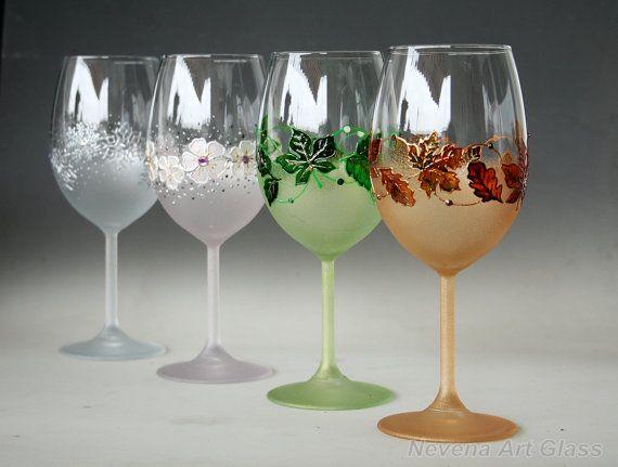 Wine Glasses Four Seasons Glasses 4 Seasons Wine Set The Four