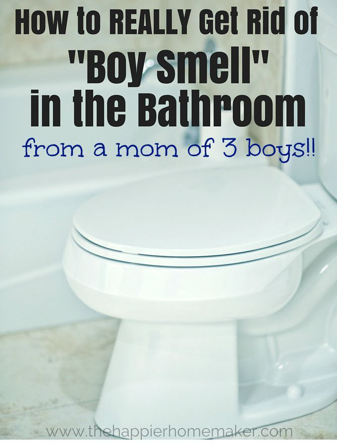 How To Get Rid Of Boy Smell In The Bathroom The Happier Homemaker Boy Bathroom Smell Bathroom Bathroom Smells