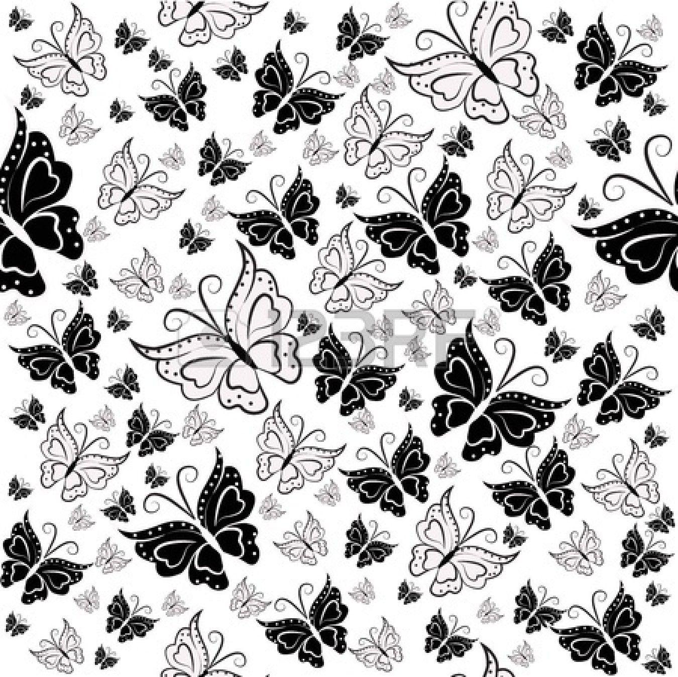 Papel decorativo blanco y negro de corazones buscar con - Papel pared blanco ...