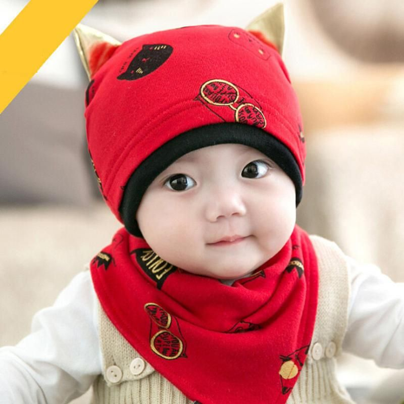 f9d3a94ab1d Gorras Sale Fitted Photography 2017 New Cute Girls Sleep Hat+saliva Towel  Triangle Head Scarf