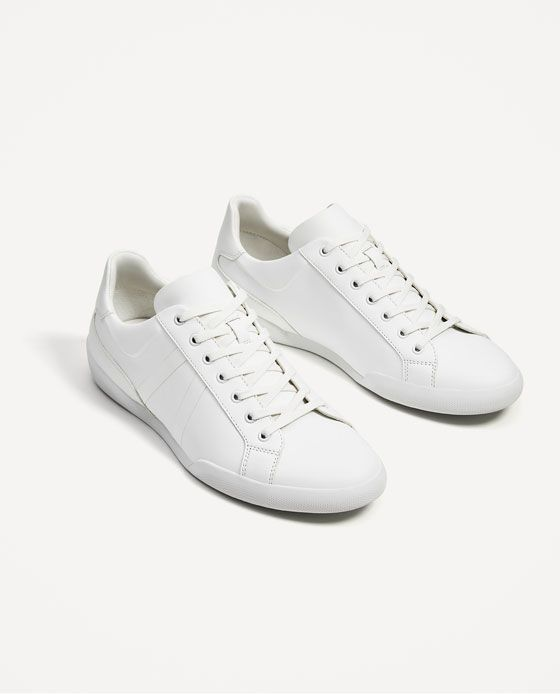 121e7f315 Image 1 of WHITE SNEAKERS from Zara White Casual Sneakers