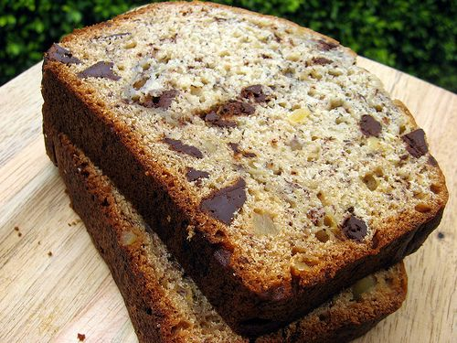 banana bread with crystalized ginger and chocolate chips | orangette