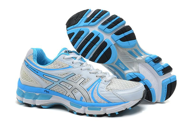 White cc Asics Women BlueTigershoes Kayano 18 Gel Shoes 3j5AR4L