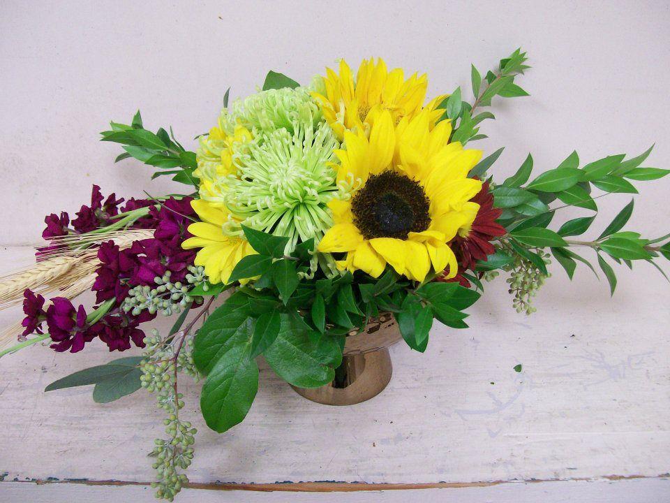 Original fall centerpiece. Aren't sunflowers the best??? !