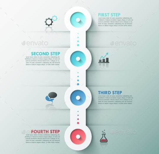Modern infographics templates Process (2 Colors) | Infographics ...