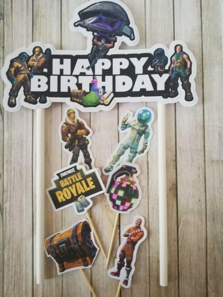 Fortnite birthday decoration fortnite cake topper cupcake
