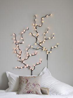 Pin By Lavanya Madhavan On Bedroom Inspiration Home Inspiration Fairy Lights Bedroom Fairy Lights Wall Decor Bedroom