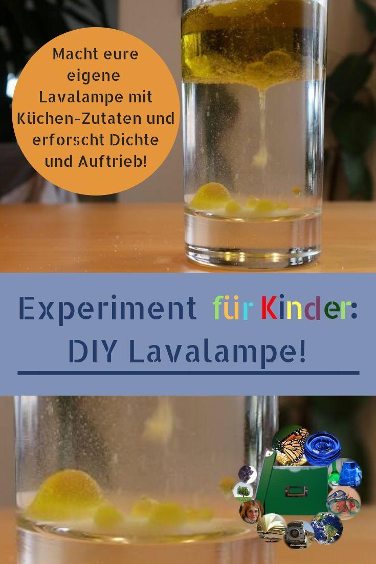 Schnelle Lavalampe im Glas - Eine Frage der Dichte - Keinsteins Kiste #bastelideenkinder