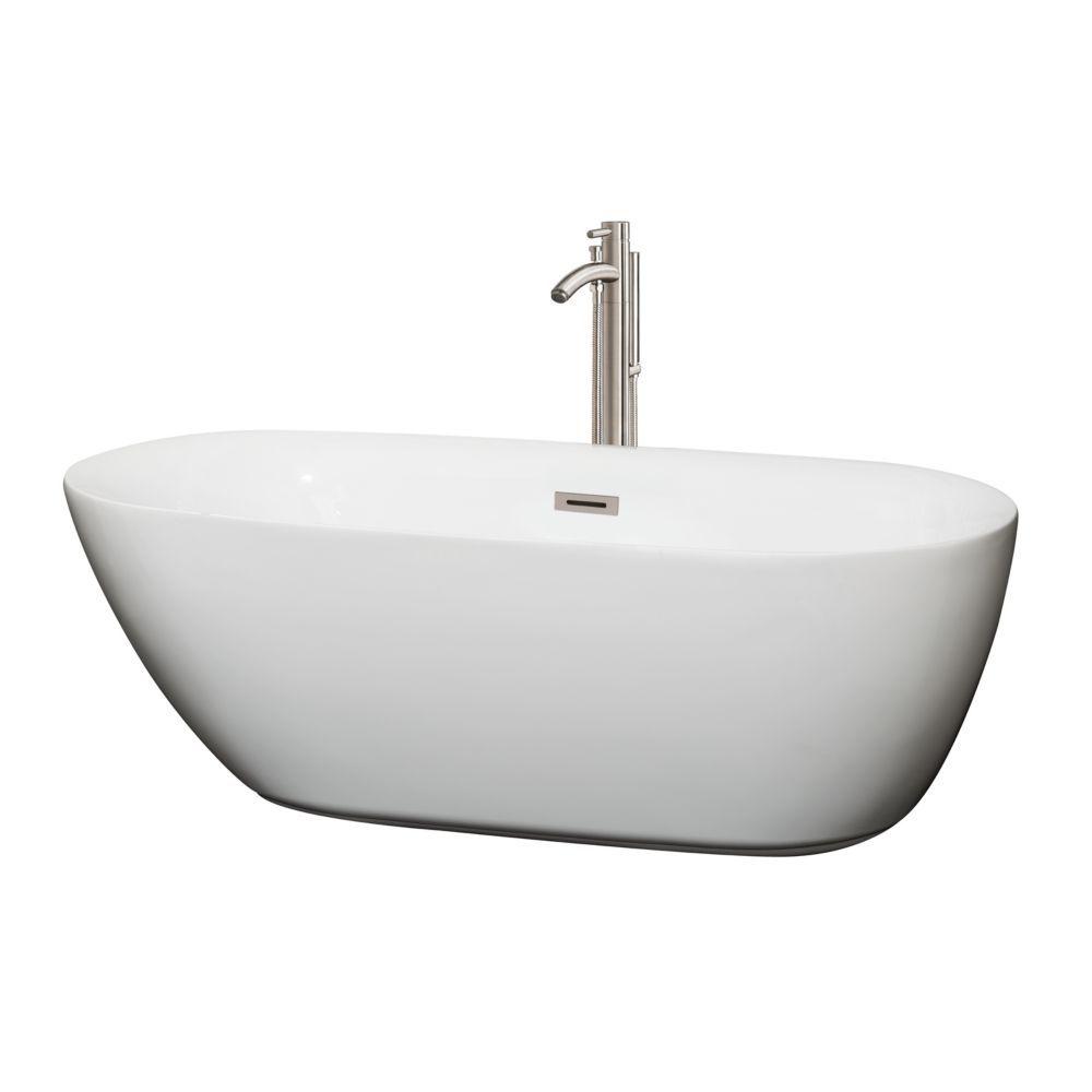 Melissa 5 Feet 5 Inch Soaker Bathtub With Centre Drain And Floor