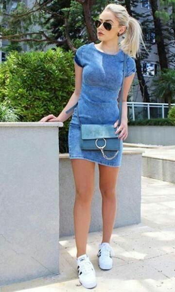 Vestido De Blu Jeans Moda Moda Estilo Y Ropa