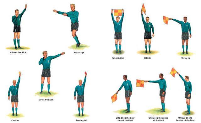 Referee Signals Soccer Referee Football Referee Referee