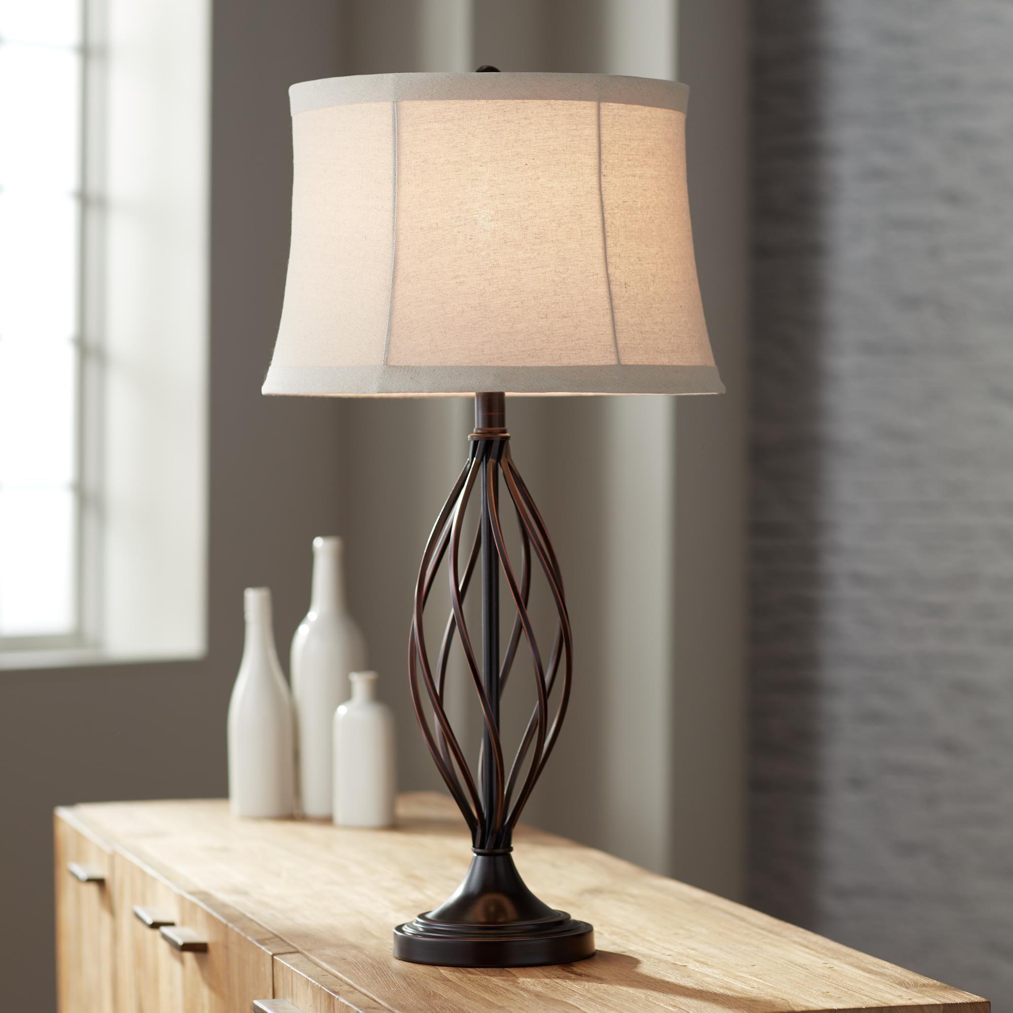 Liam Iron Twist Bronze Table Lamp Bronze Iron Lamp Liam Table Twist Table Lamps For Bedroom Bronze Table Lamp Table Lamp