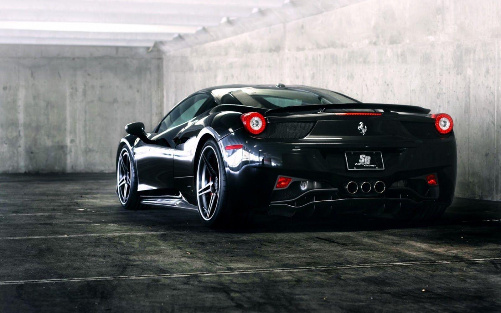 Black Ferrari Wallpaper Hd For Desktop Black Ferrari Hd Desktop
